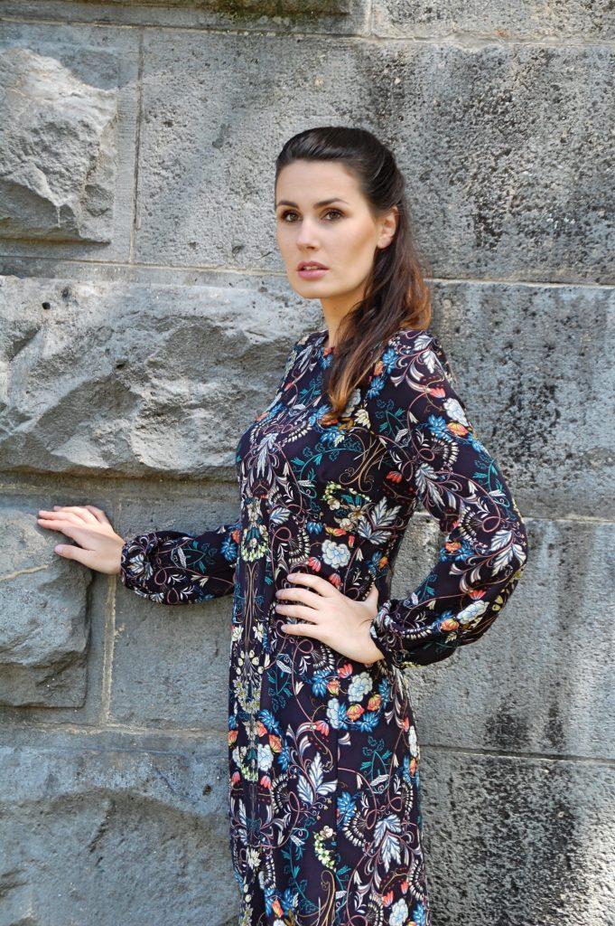 Midikleid_Midi_Fashion_Dress_Kleid_Vintage_Blumenprint_Muster_Blumenkleid5