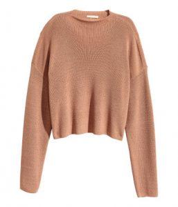 Gerippter kurzer Pullover
