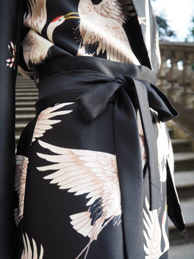 Bindegürtel Obi des Kimono Blazers