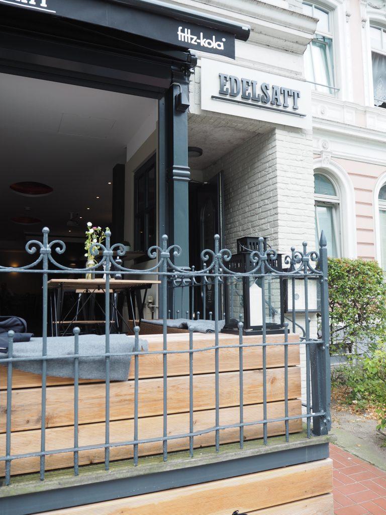Außenansicht Restaurant Edelsatt im Karolinenviertel in Hamburg